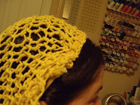 knit hairnet snood