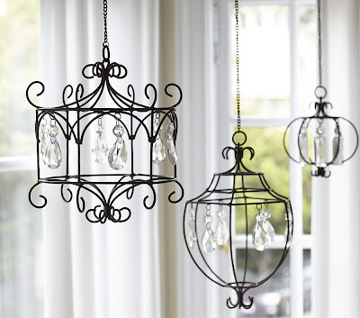 crafts for home decor: pottery barn-inspired chandelier tutorial