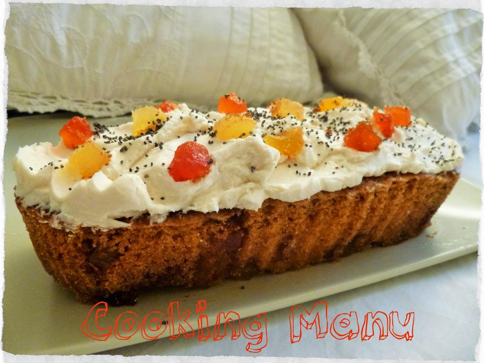 torta al limone con frosting al mascarpone (lemon loaf with mascarpone frosting)
