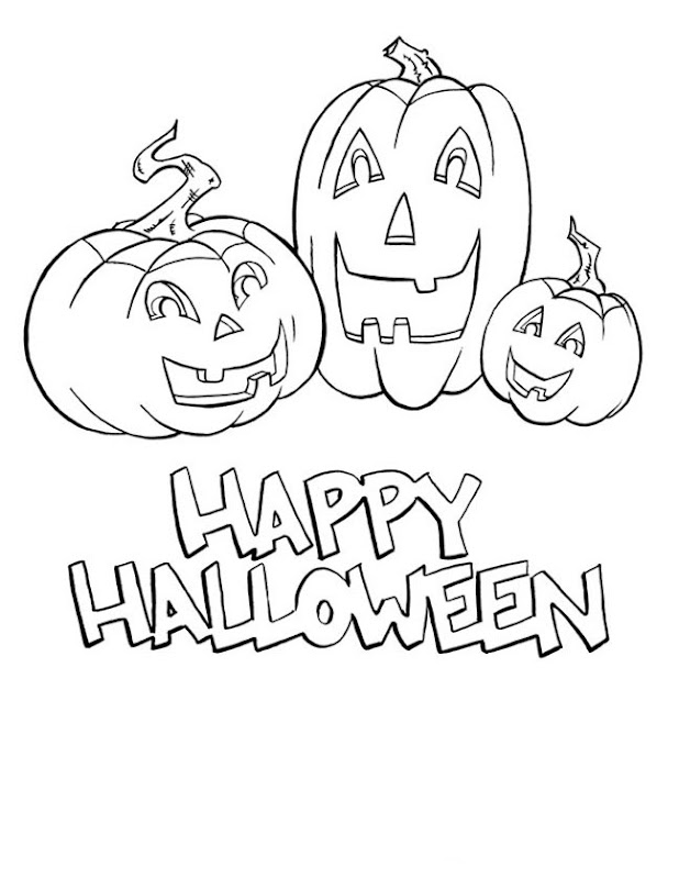Happy Halloween Coloring Pages title=