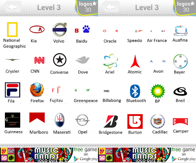 All Logo Quiz Answers Level 3