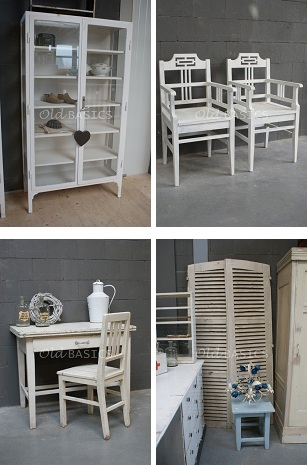 Old basics zomers witte brocante for Brocante meubels