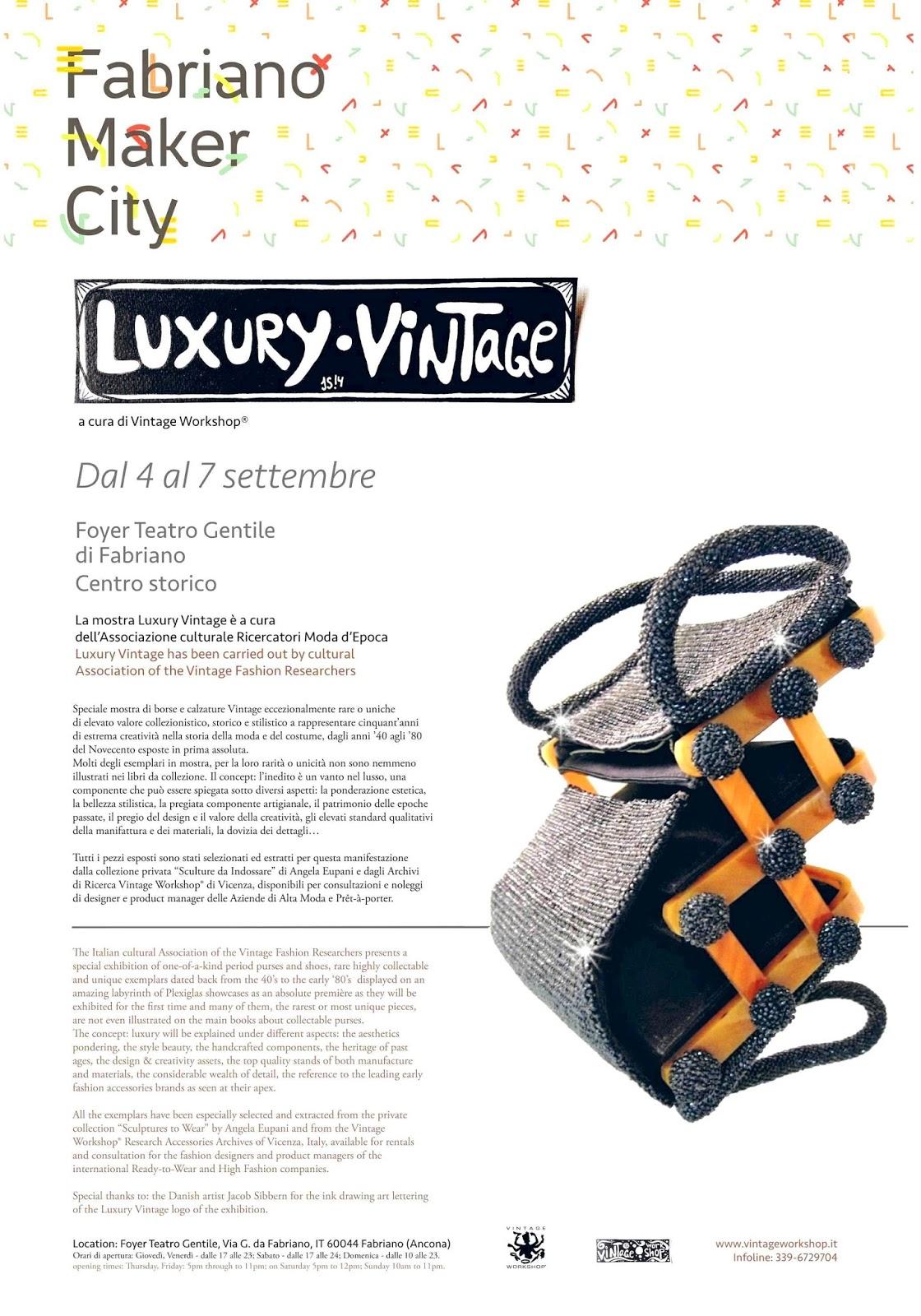 poster mostra borse epoca Luxury Vintage by Vintage Workshop