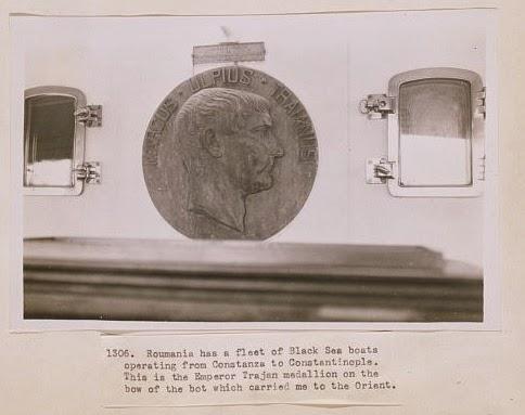 Medalion pe vaporul Imparatul Traian