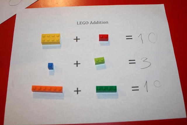 JOGOS DE RACICÍNIO COM LEGO - ATIVIDADE DE ADIÇÃO CONCRETA