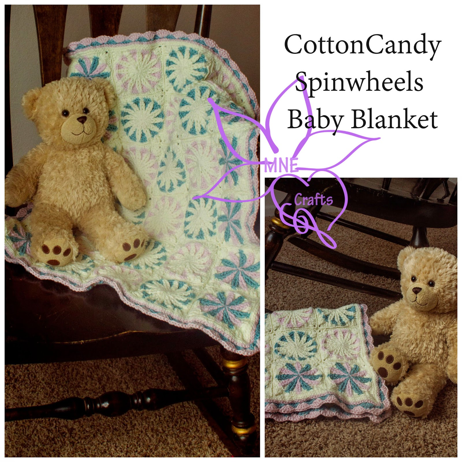 Cotton Candy Spinwheels Baby Blanket