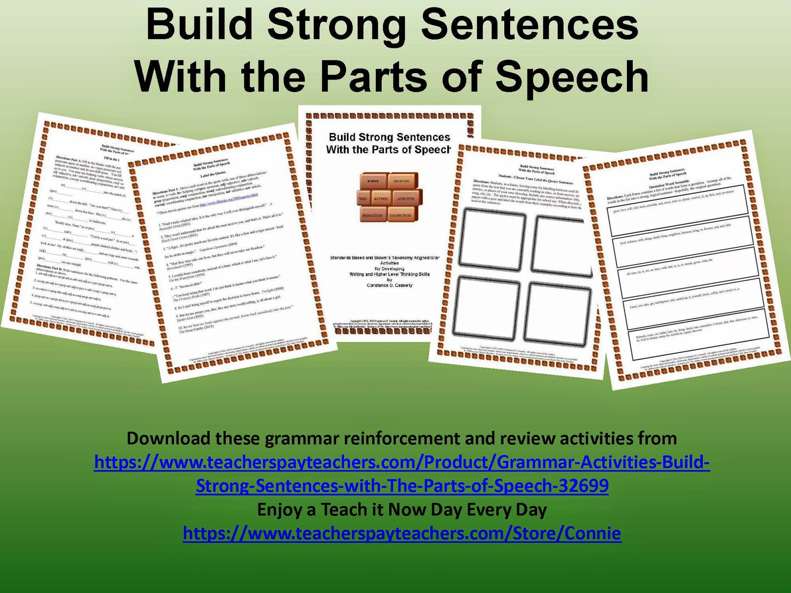 Build Strong Sentences with The Parts of Speech preview