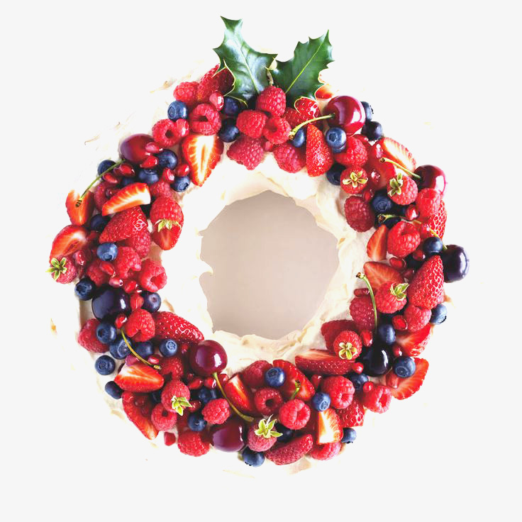 Merengue com Frutas Vermelhas para o Natal