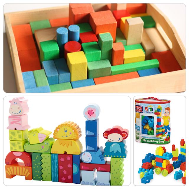 المكعبات الخشبية ومكعبات الحيوانات والمكعبات الكبيرة mega blocks