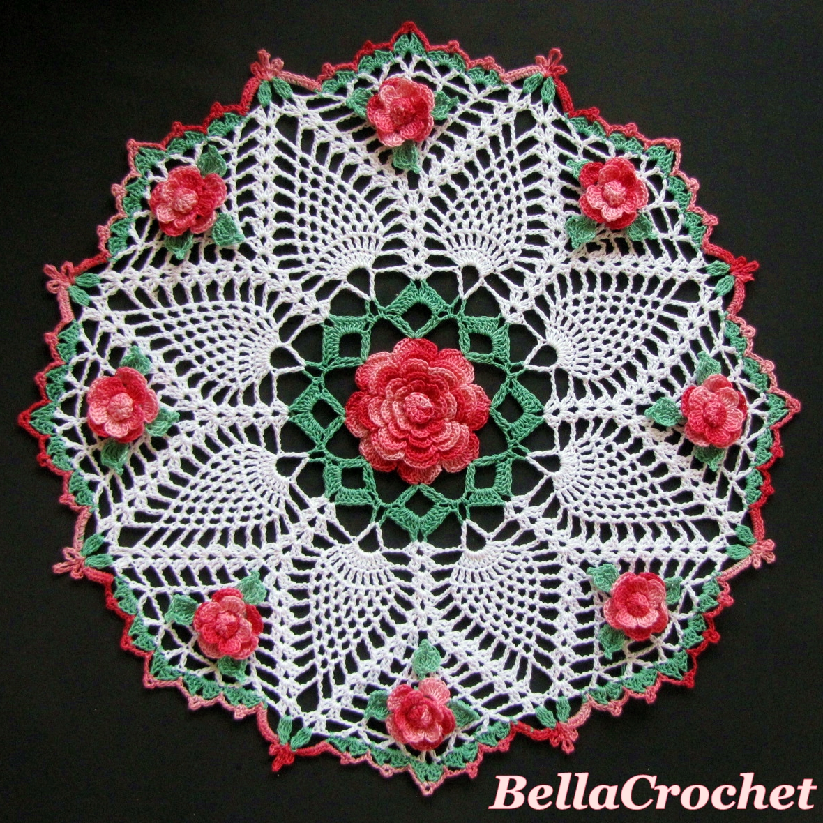 bellacrochet dorothy u0027s roses doily a free crochet pattern for you
