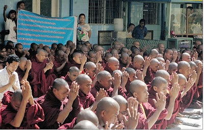 3 Stops on Americas Asian Tour of Shame Myanmar Monks Protest2