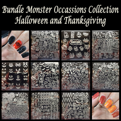 Bundle Monster Occasions Halloween and Thanksgiving Stamping Plates