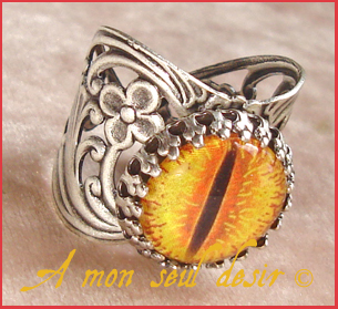 bague bijou Seigneur des Anneaux Sauron Mordor Oeil Yeux JRR Tolkien Jewel Ring Eye Lord of the Rings