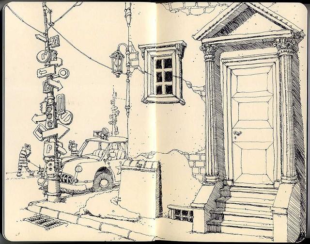 13-Distant-Hello-Mattias-Adolfsson-Surreal-Architectural-Moleskine-Drawings-www-designstack-co
