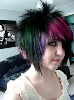 Short Scene Girls Hairstyles for 2011 Spring