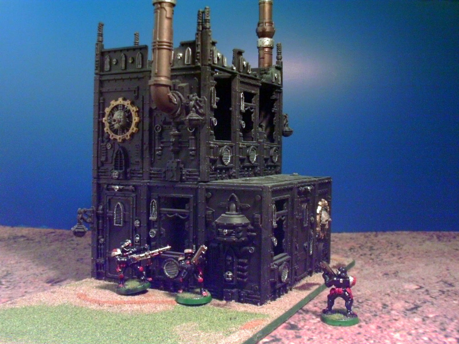 how to make warhammer 40k buildings