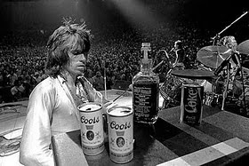 Keith Richards Onstage With the Rolling Stones and Jack and Coors, 1972