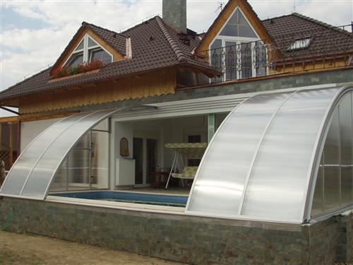 Cerramiento y cubierta para piscina adosada a chalet en for Cubiertas para piscinas madrid
