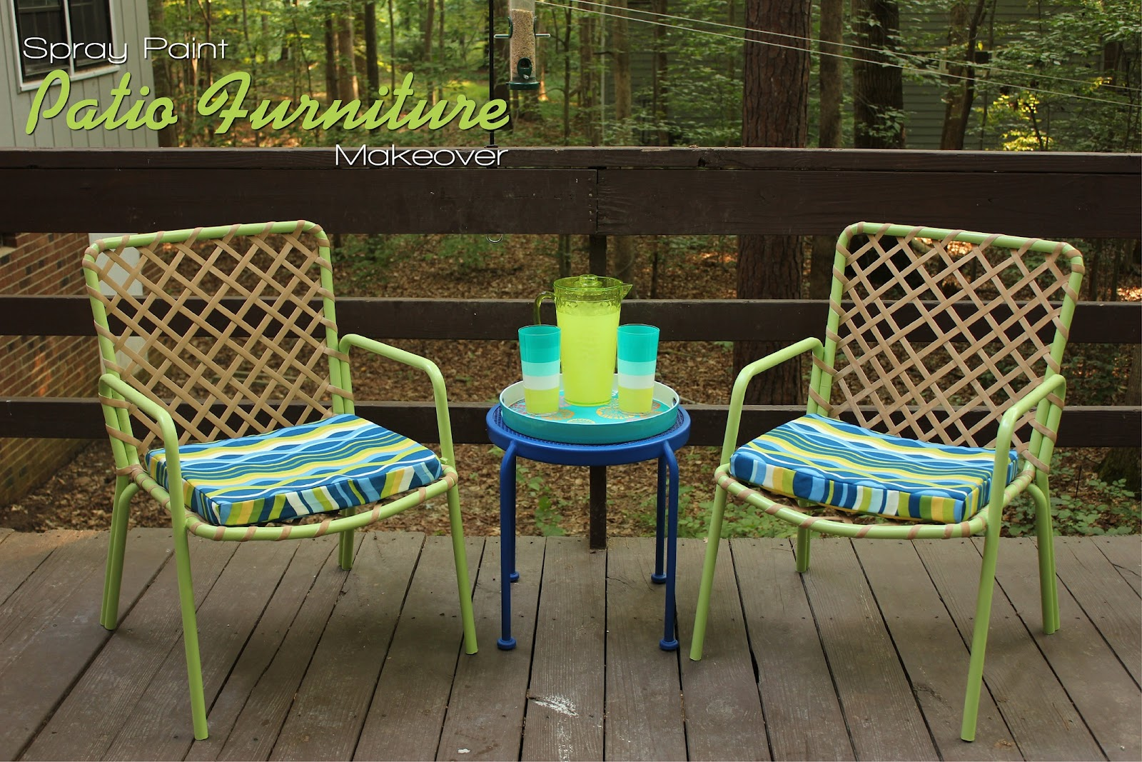 Genial Spray Paint Patio Furniture Makeover