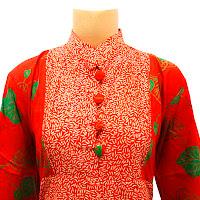 DBT2571 - Baju Bluse Batik Wanita Terbaru 2013