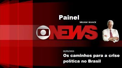 """Ouça; """"Os caminhos para a crise política no Brasil""""  Globo News Painel 02.05.15"""