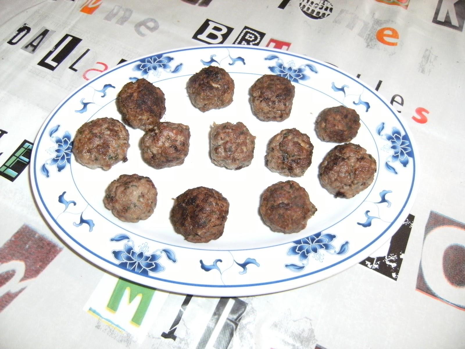 Les recettes chouettes de sissi boulettes de boeuf - Boulette de boeuf maison ...