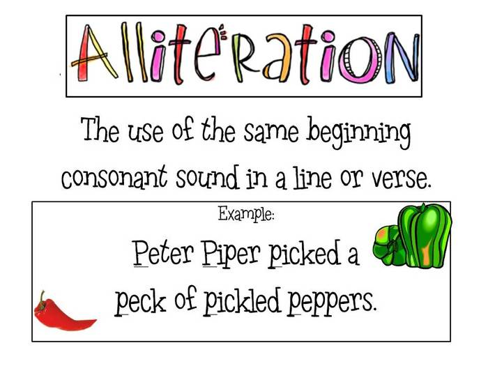 Alliteration Examples Peter Piper Seong-ho han: alliteration