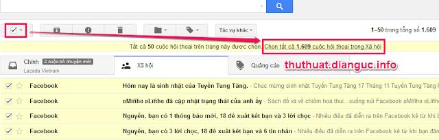 Cách xóa toàn bộ thư trong gmail nhanh nhất