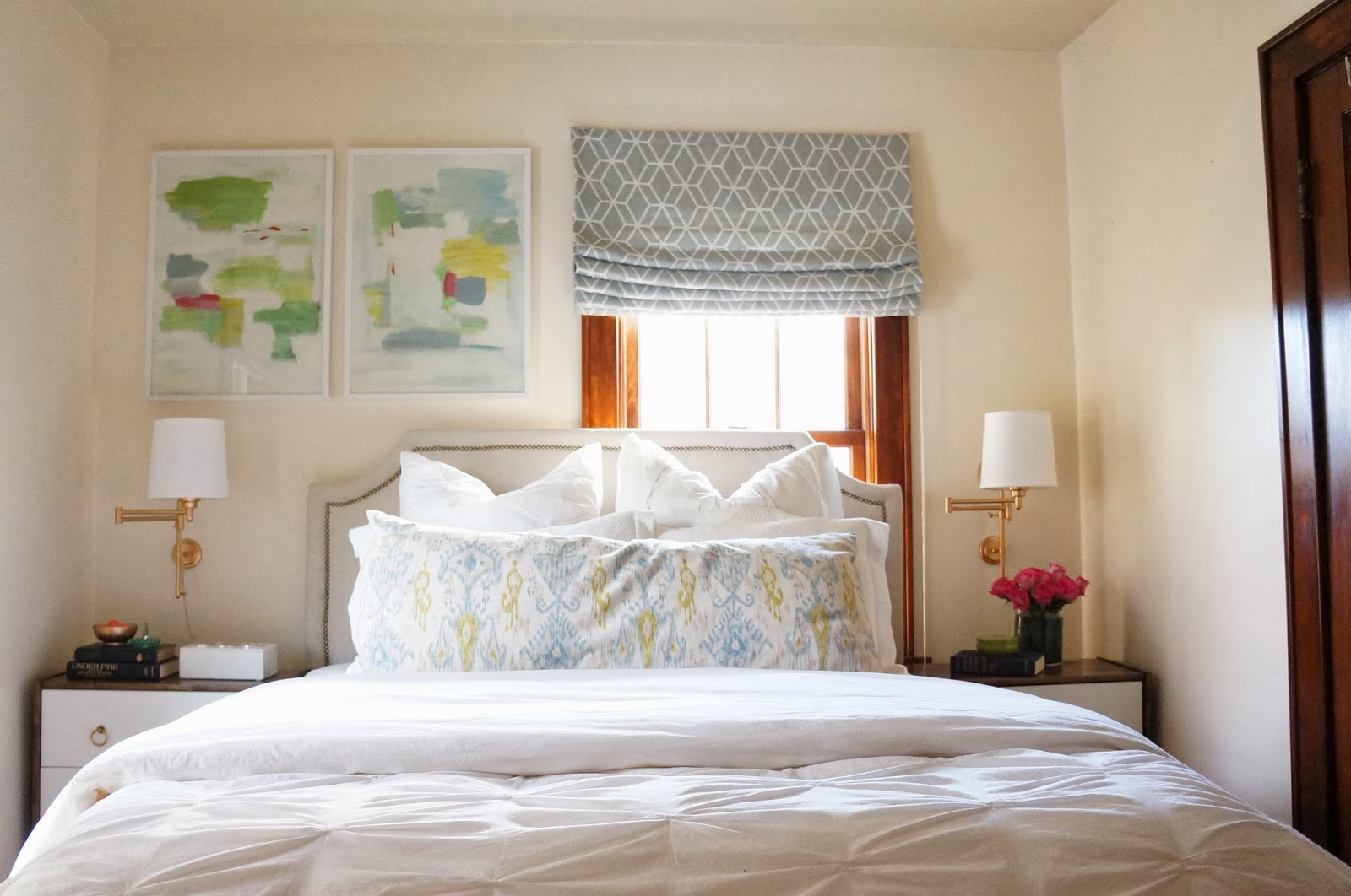 Light and Bright Bedroom Off Centered Window