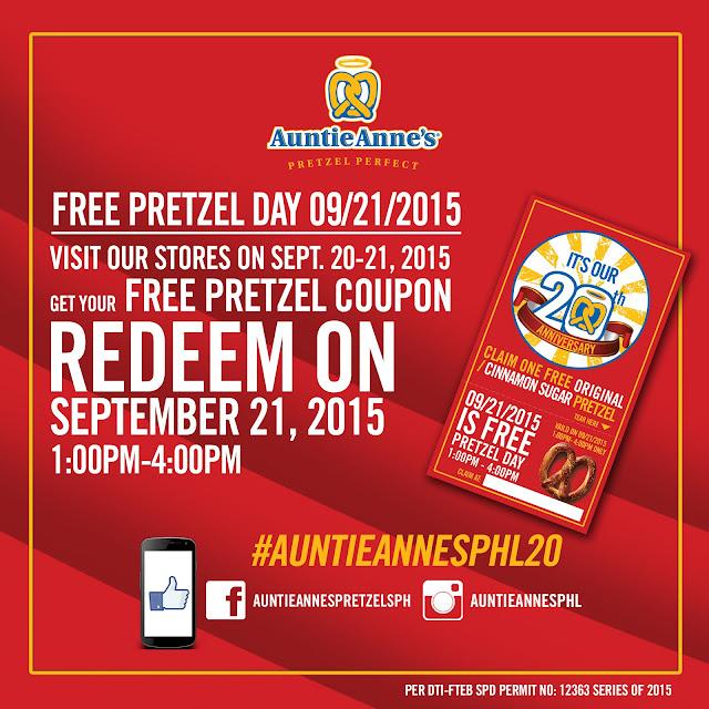 FTW! Blog, Auntie Anne's, pretzels, anniversary promo
