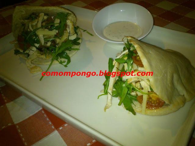 Kebab casero de pollo y rucula