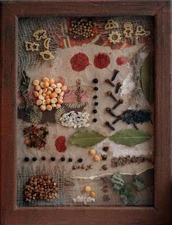 Панно из подручных материалов для стены на кухне