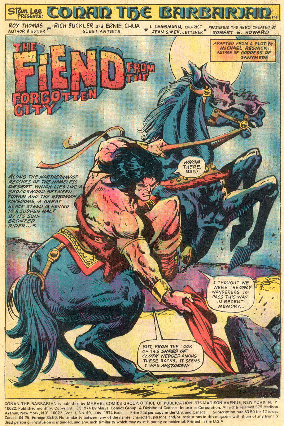 Conan the Barbarian (1970) Issue #40 #52 - English 2