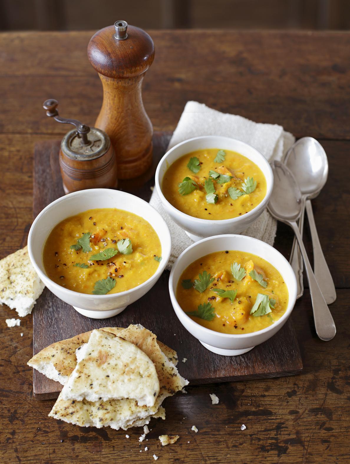appledrane: Curried squash, lentil and coconut soup