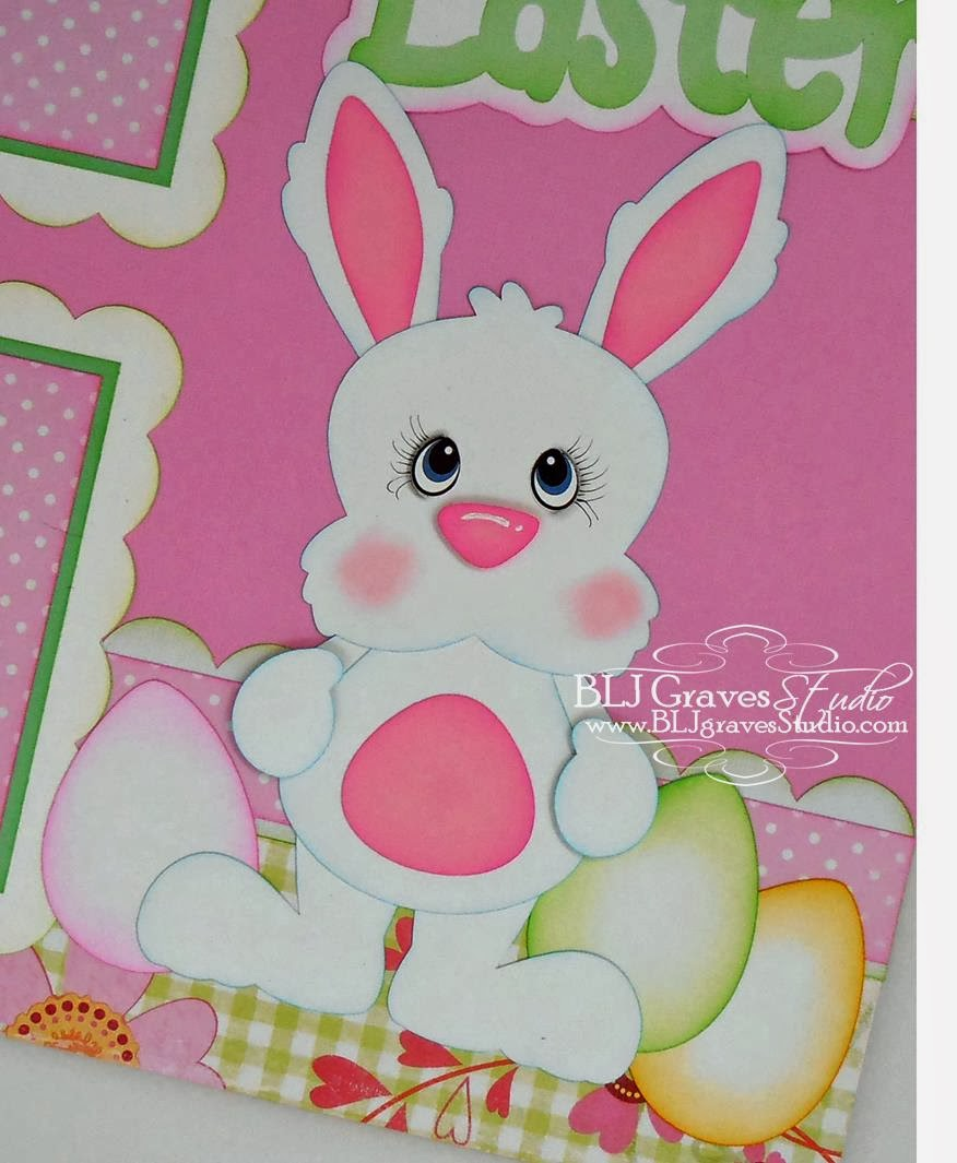 Scrapbook ideas easter - Blj Graves Studio Easter Bunny Scrapbook Page Easter Bunny Scrapbook Page I Used The Following Cutting