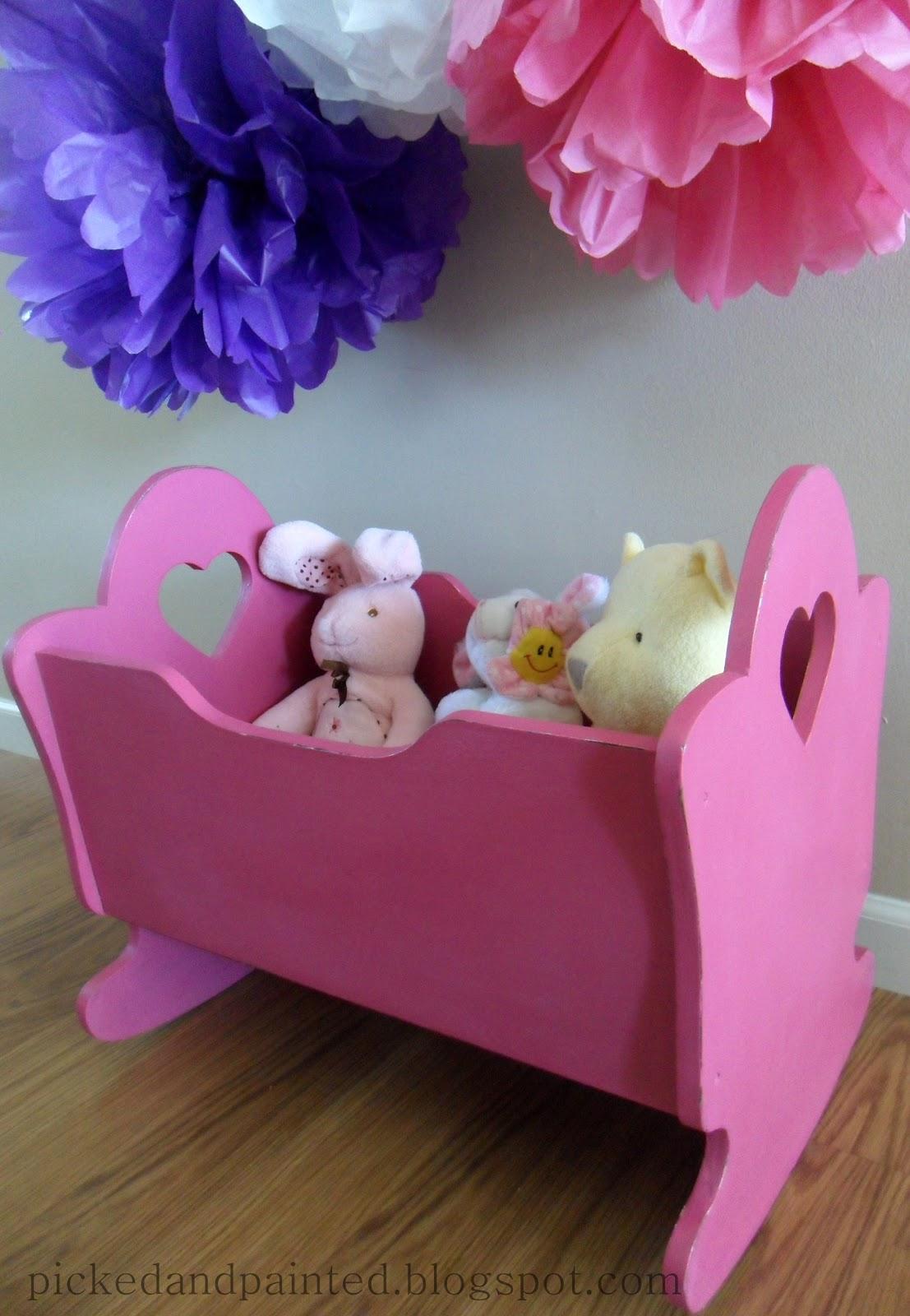 Helen Nichole Designs Custom Baby Doll Cradle