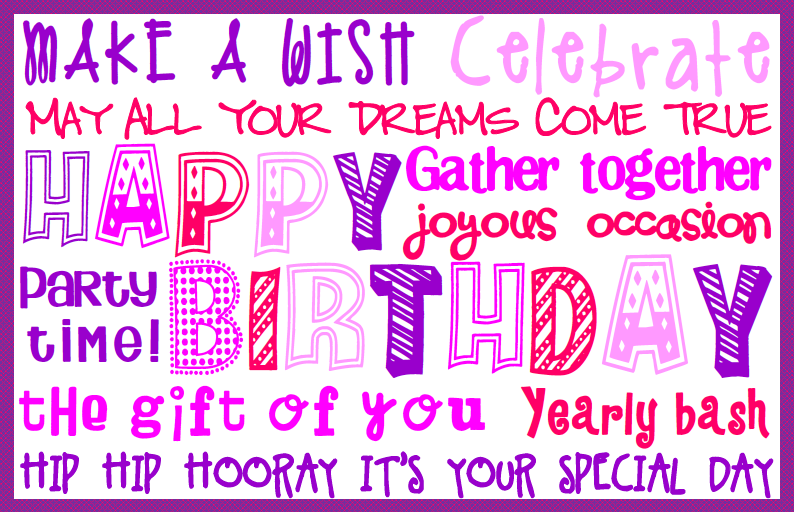 photograph relating to Printable Placemat Template named Joyful Birthday Placemats Free of charge Printables