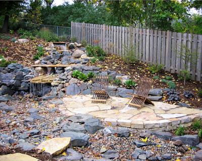 Dise o de patio rustico con cascada patios y jardines for Jardines disenos rusticos