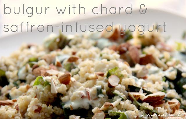 Earthy, whole-grain Bulgur with Chard and Saffron-Infused Yogurt