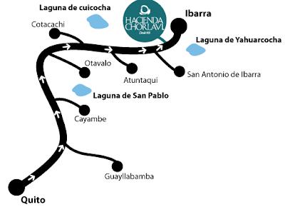 ¿Cómo llegar? Mapa Hacienda Chorlavi