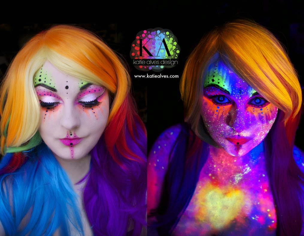 03-Black-Light-Alien-Katie-Alves-Makeup Paint Effects-www-designstack-co