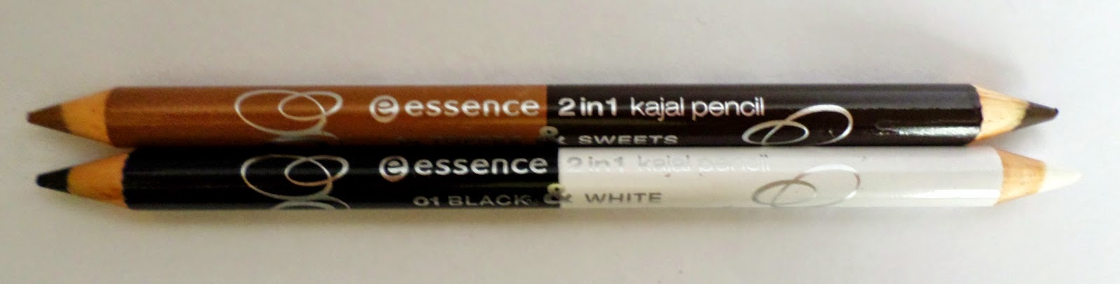 Essence 2 in 1 Kajal Pencil in Black & White and Toffee & Sweets