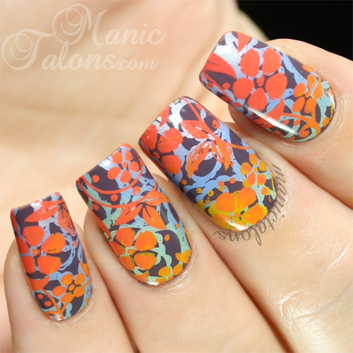 Double Gradient Stamped manicure with Mundo de Unas, Pueen and Daisy Duo