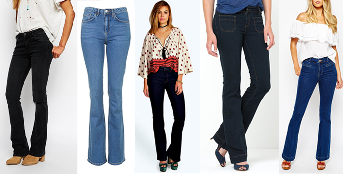 top 5 flared jean, flares
