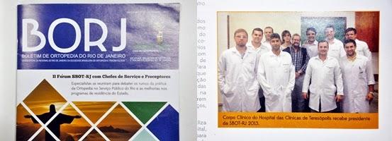 Serviço de Ortopedia e Traumatologia do HCTCO foi um dos destaques do Boletim de Ortopedia do Rio de Janeiro