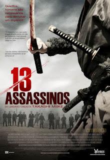 """Cartaz brasileiro do filme """"13 Assassinos"""""""