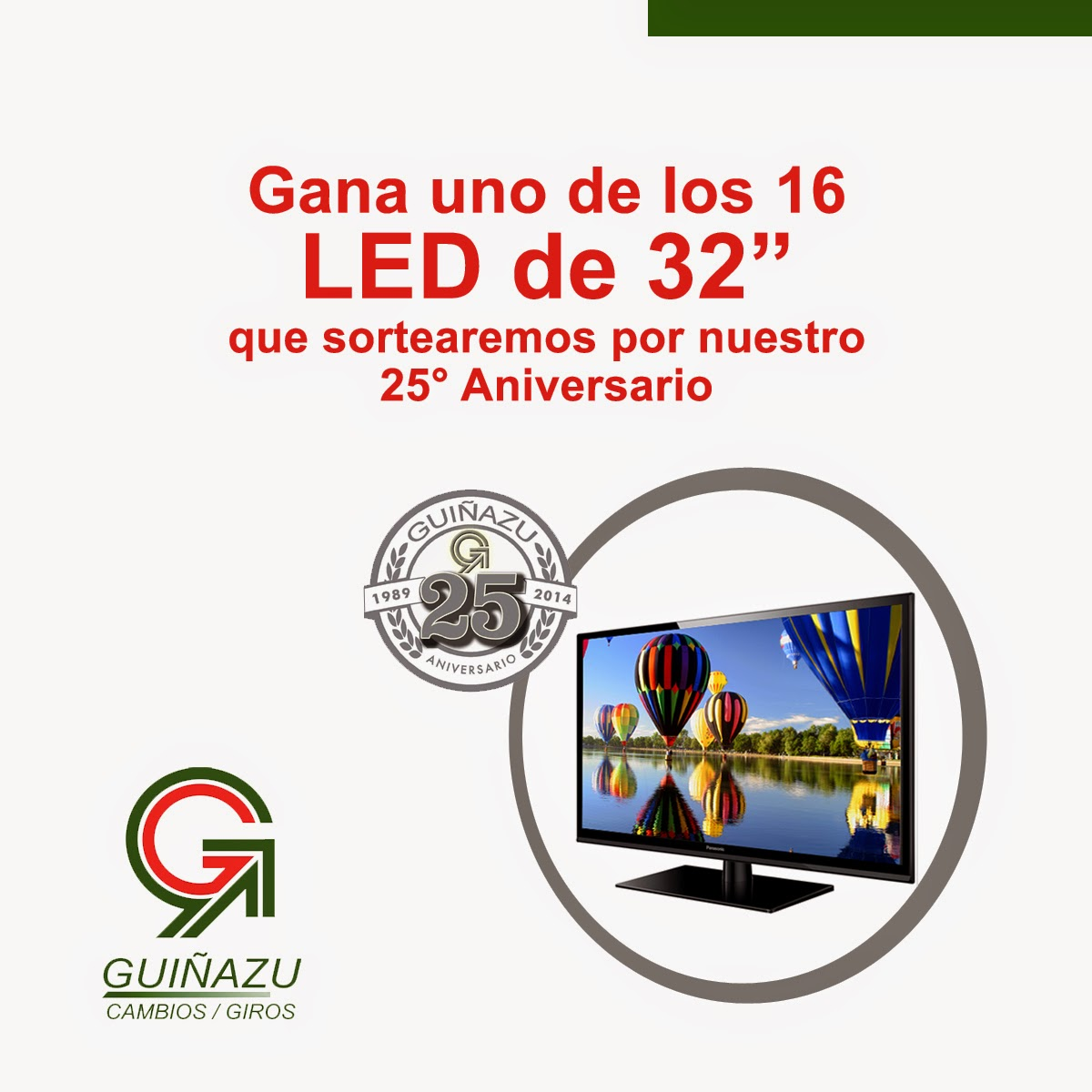Guiñazu regala TV LED