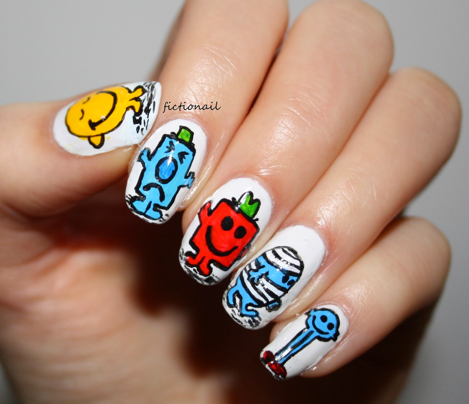 Mr men nails mr men character nail art prinsesfo Image collections
