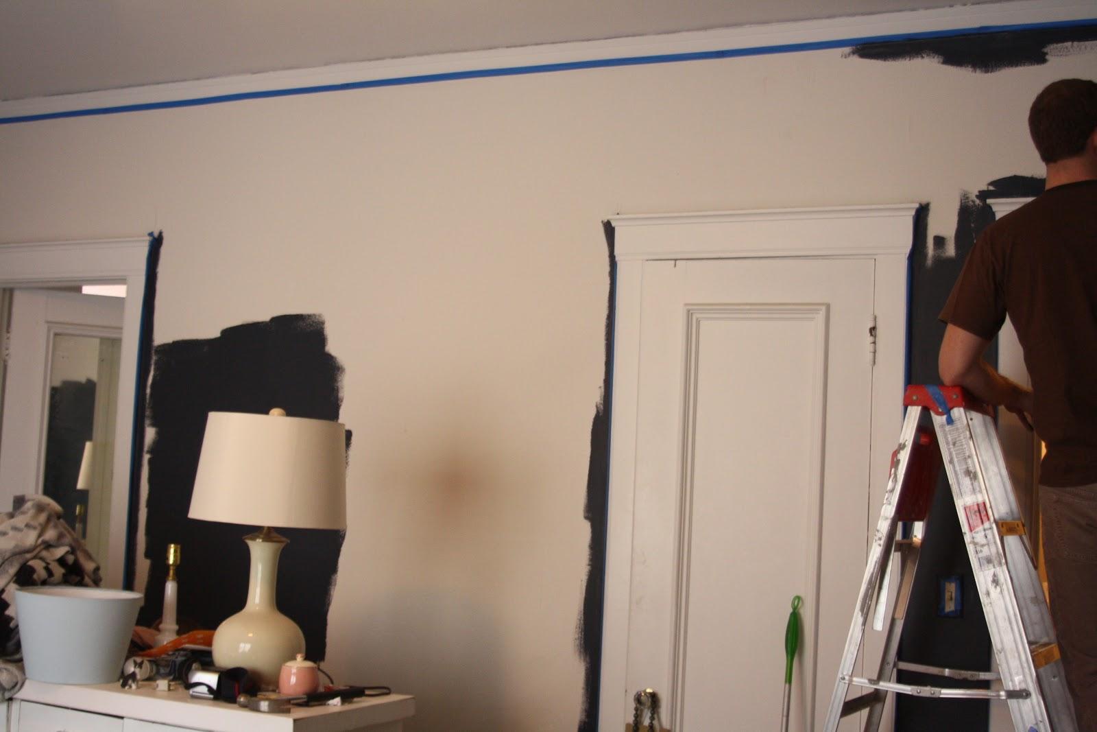 bedroom decor dark walls navy paint