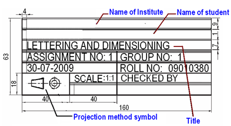 Cadforyou Engineering Drawing Layout And Lettering